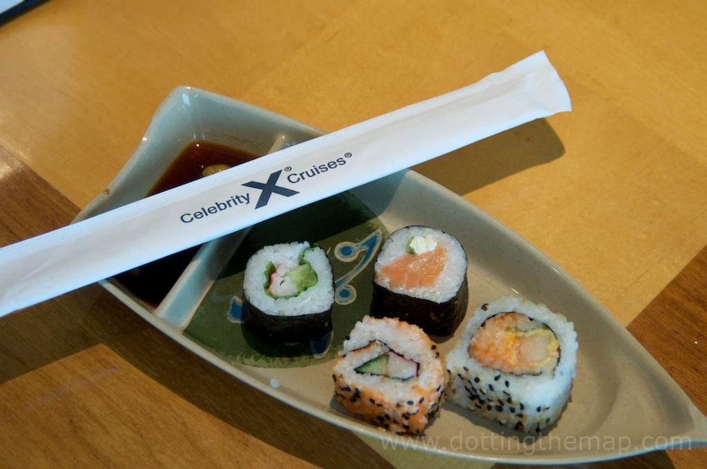 Sushi on Celebrity Cruises