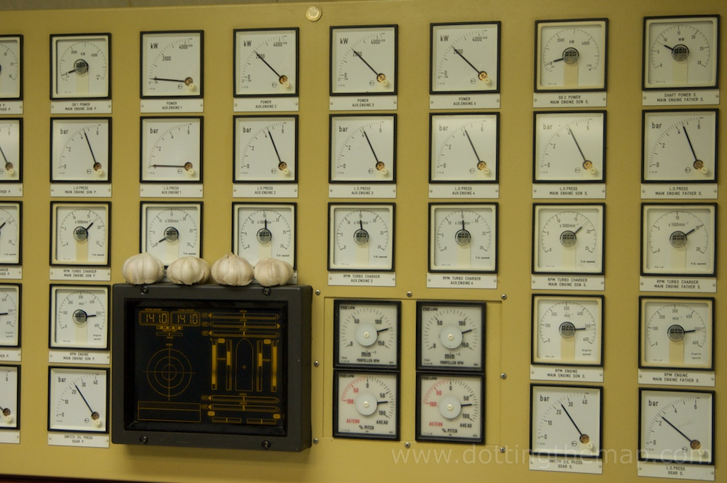 alarms in engine control room on cruise ship