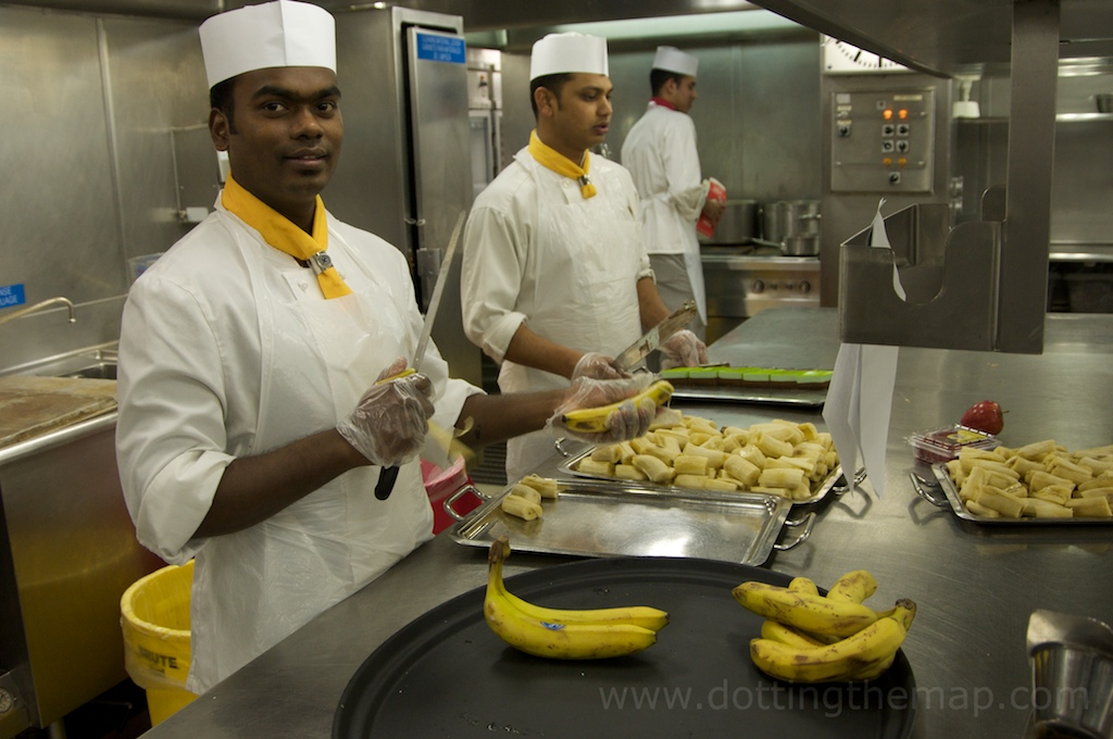 kitchen cooks on cruise ship
