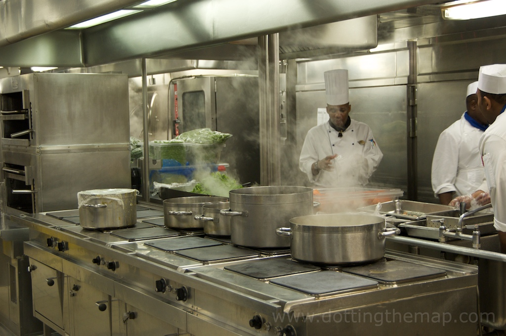 cruise ship kitchen