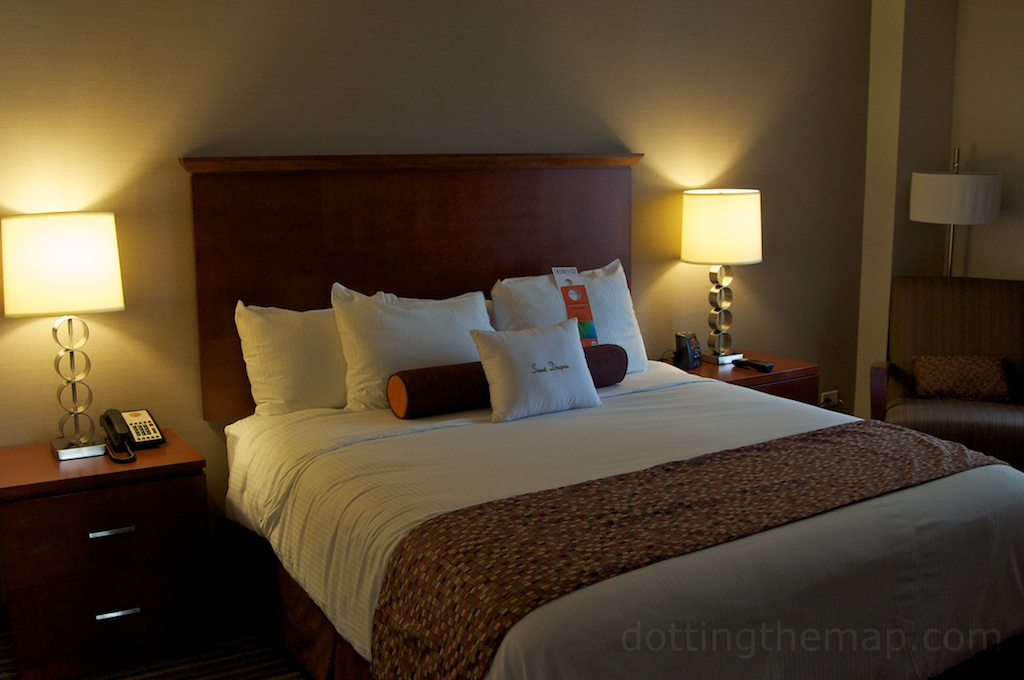 bed at The Curtis Hotel in Denver