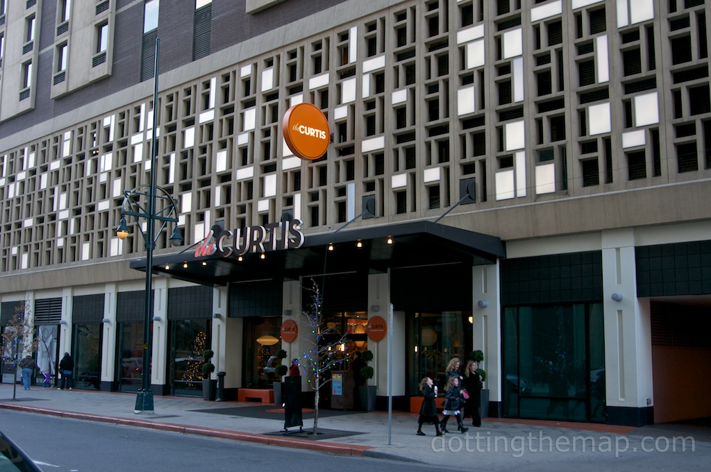 front of The Curtis Hotel in Downtown Denver