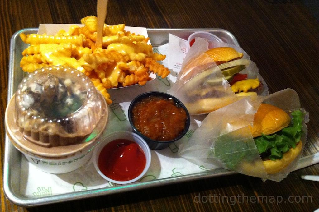 Shake shack burger and fries New York City