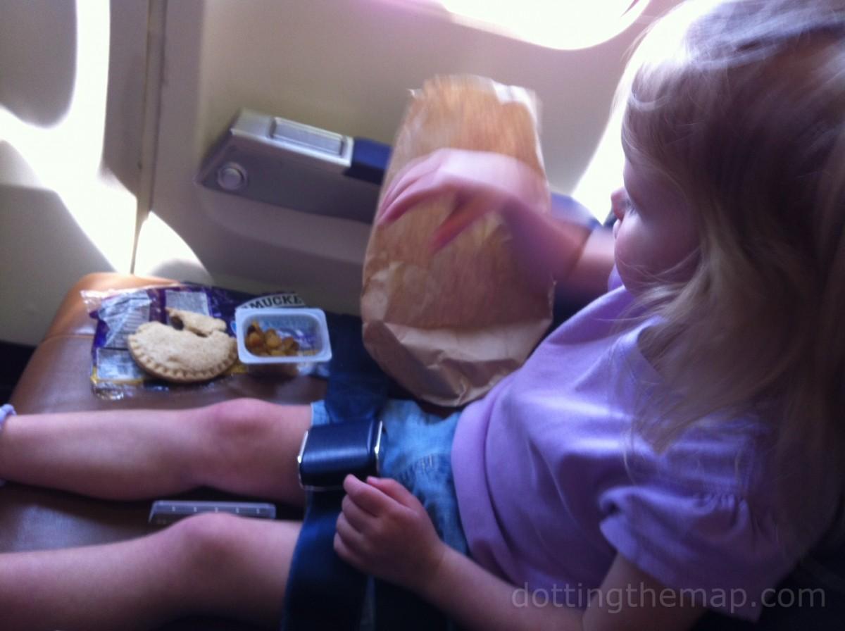 toddler airplane eating