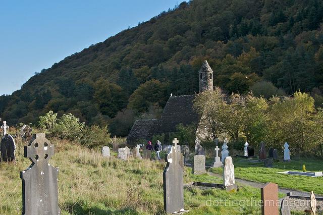 Cemetery in Glendalough Ireland