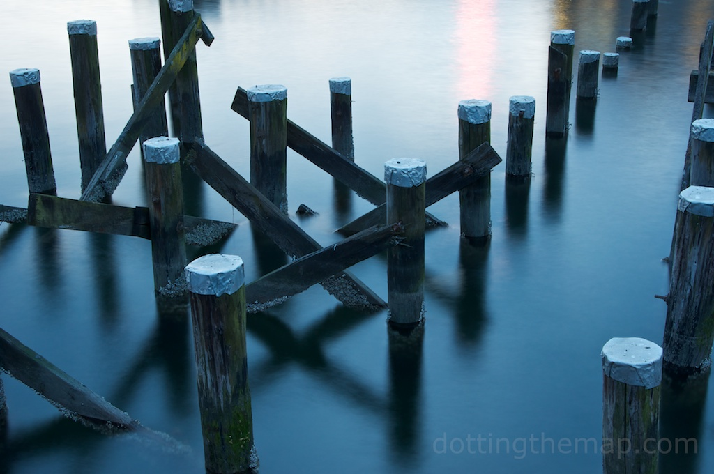 Old dock in North Vancouver, British Columbia