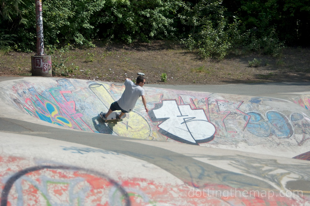 skateboarding in Whistler British Columbia