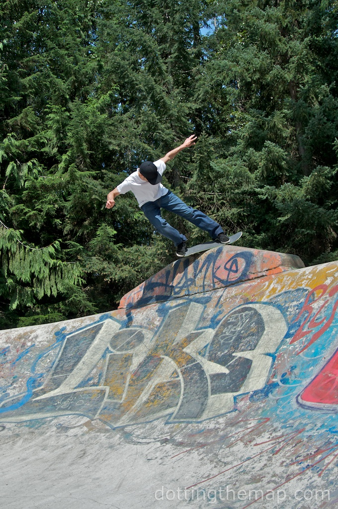 skateboard in whistler British Columbia
