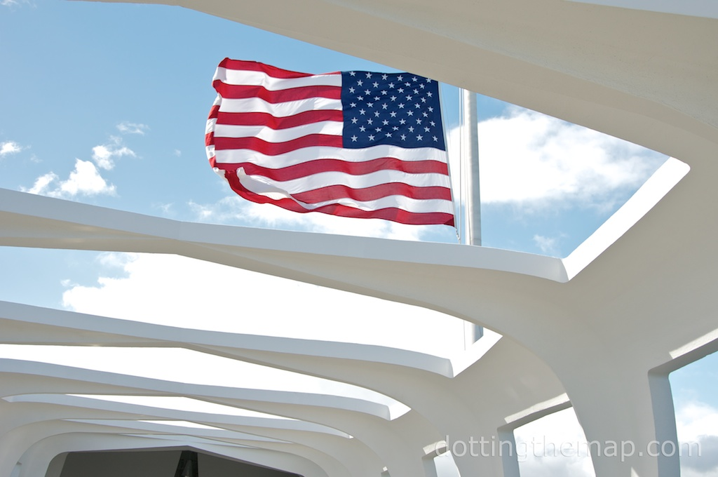 Flag at Pearl Harbor National Monument