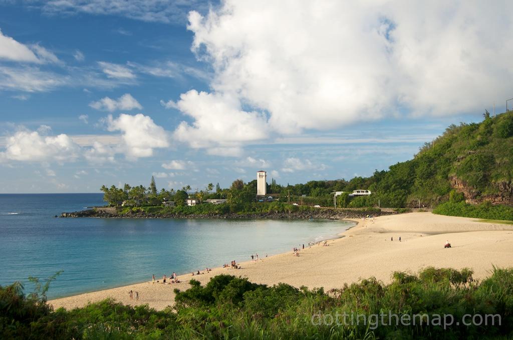 Waimea Bay on the North Shore in Oahu