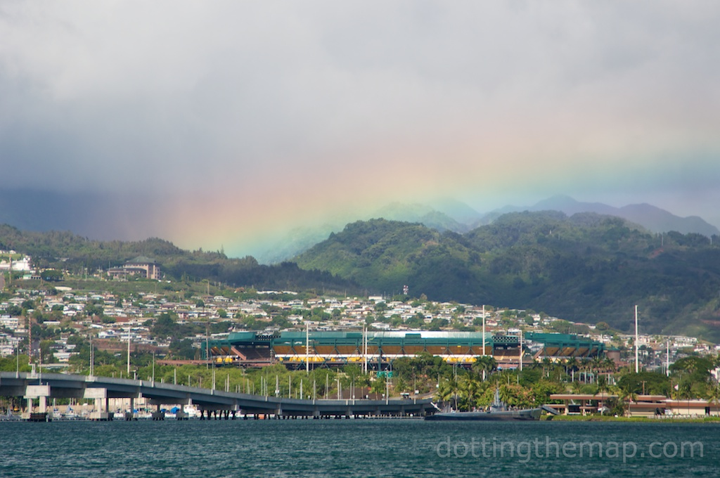Rainbow over Aloha Stadium