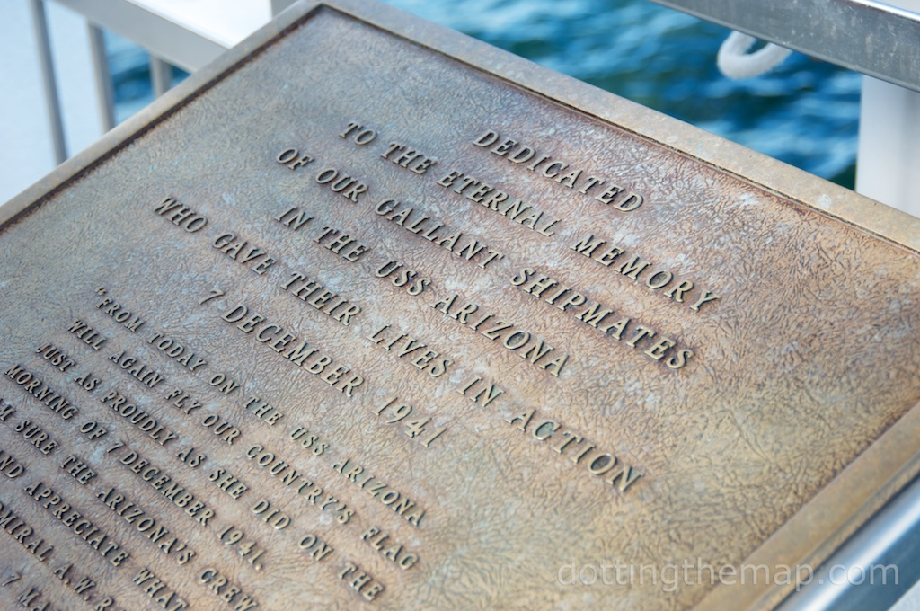 USS Arizona Plaque