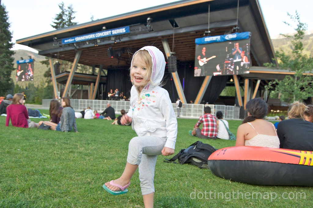 Dancing at an outdoor concert in Whistler, British Columbia