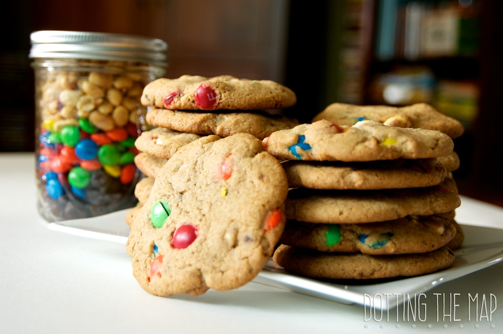 Whole Wheat peanut butter Trail Mix Cookies
