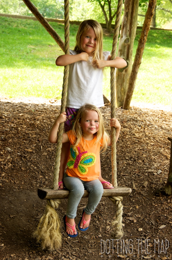 Treehouse swing at Cheekwood Botanical Garden