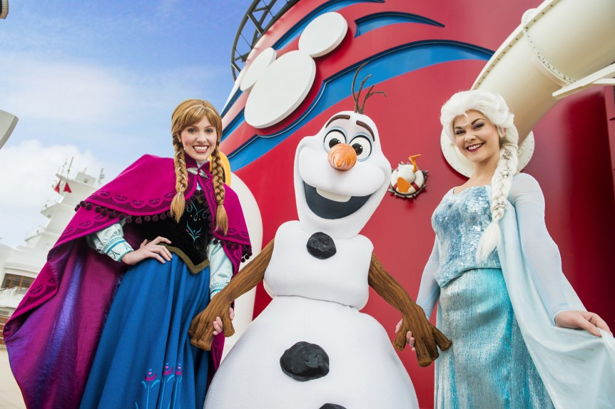 Elsa and Anna on Disney Cruise