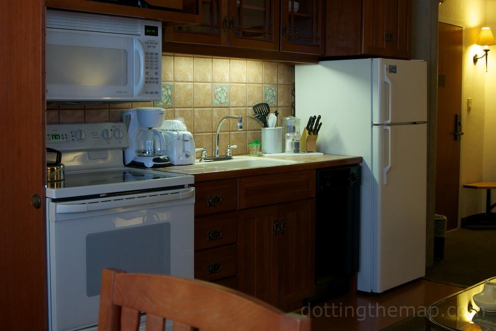 condo kitchen at Cliff Lodge Snowbird