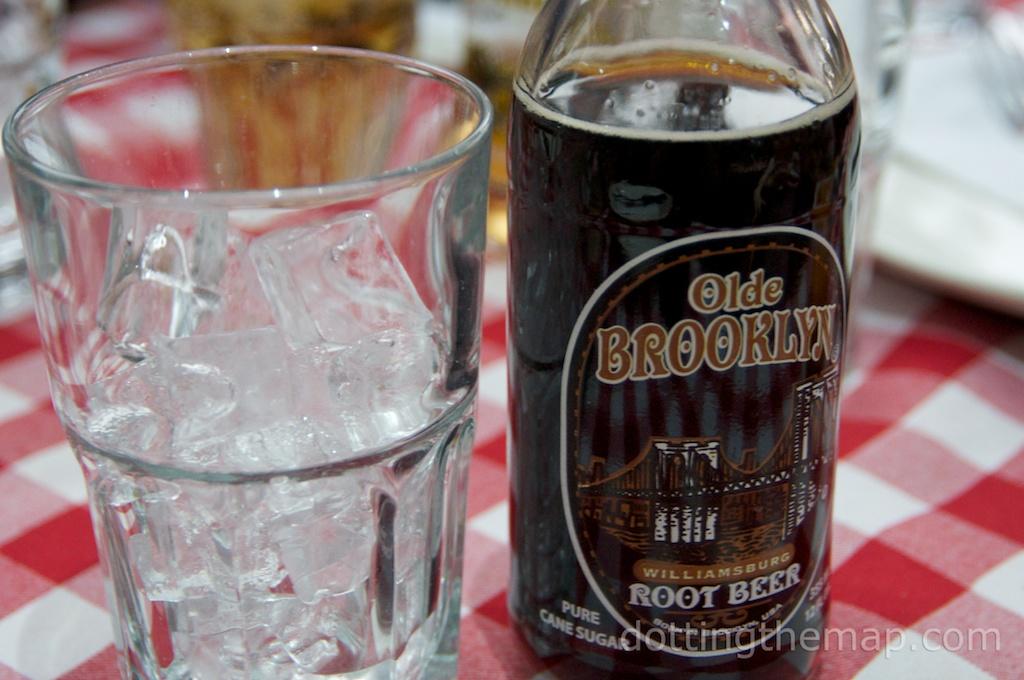 Olde Brooklyn Root Beer Soda at Grimaldis