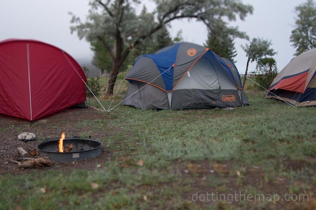 camping at Otter Creek State Park Utah