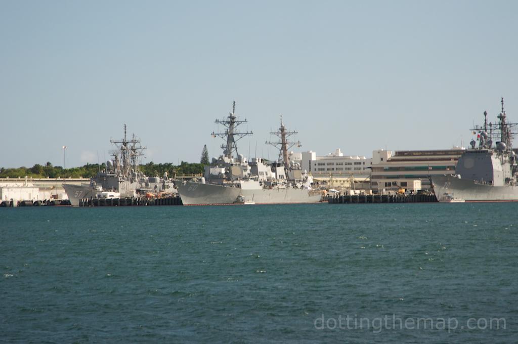 Navy Ships at USS Arizona Memorial