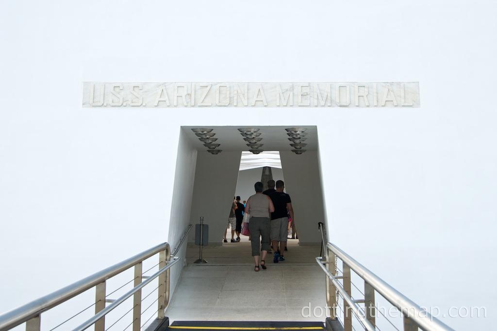 USS Arizona Memorial entrance