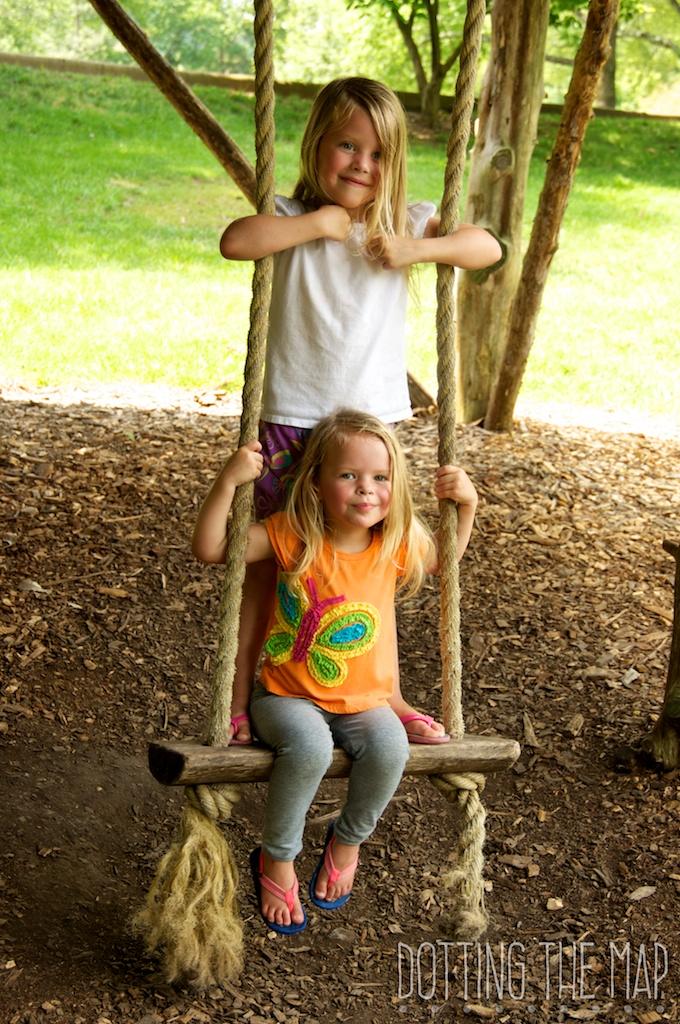 Treehouse swing at Cheekwood Botanical Garden