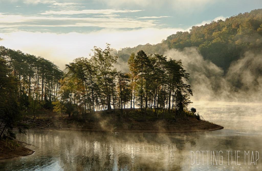 Norris Lake in the fog