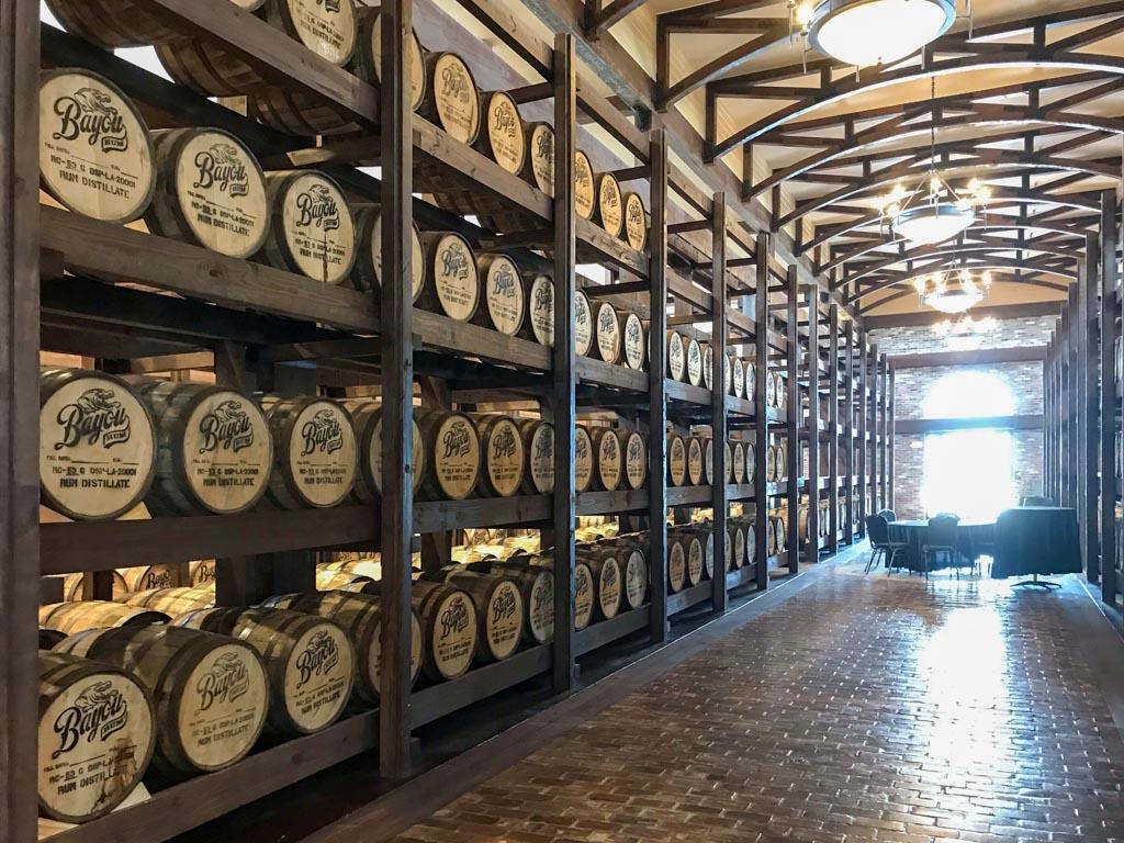 Bayou Rum distillery rum storing room
